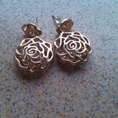 Cercei trandafiri Gold Filled Cristale austriace