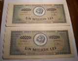 1000000 lei 1947 UNC Serii Consecutive