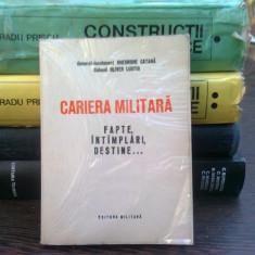 Cariera militara - Gheorghe Catana, Oliver Lustig