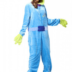PJM62-412 Pijama intreaga kigurumi, model Monster Blue, M, M/L, S, S/M