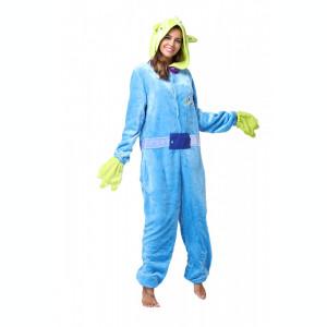 PJM62-412 Pijama intreaga kigurumi, model Monster Blue