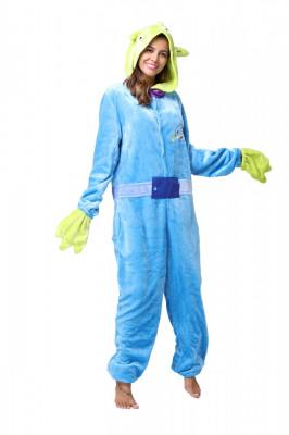 PJM62-412 Pijama intreaga kigurumi, model Monster Blue foto