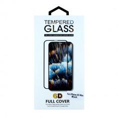Folie sticla Apple iPhone Xs Max 6D Clear/Black