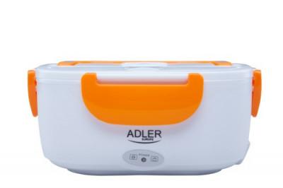 Cutie Electrica Portabila Adler Lunchbox pentru Incalzirea Mancarii, Culoare Portocaliu foto
