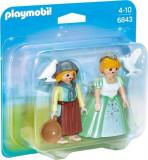 Playmobil, Set 2 figurine - Printesa si slujnica