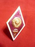 Insigna de Grad pt. Academia Militara Medicina URSS ,metal si email ,h=4,8cm