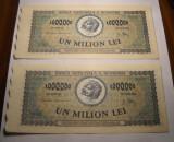 1000000 lei 1947 UNC Serii Consecutive 2