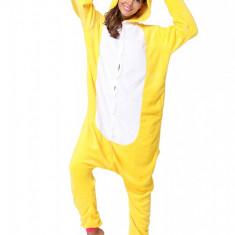 PJM59-292 Pijama intreaga kigurumi, model uncorn galben, L, M, M/L, S/M