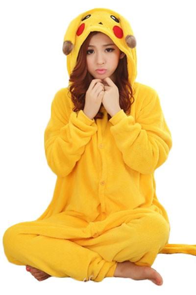 PJM14-9 Pijama kigurumi, tip salopeta cu model Pikaciu