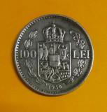 SV * Romania 100 LEI 1936 Regele Carol II XF+, Nichel
