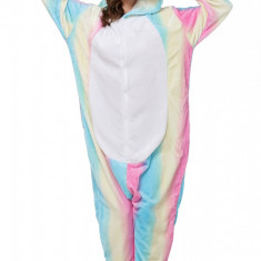 PJM60-1222 Pijama intreaga kigurumi, model uncorn multicolor, L, M, M/L