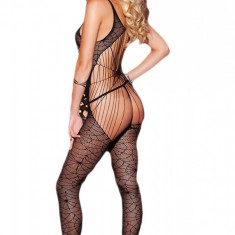 BS236-1 Bodystocking sexy cu model panza de paianjen