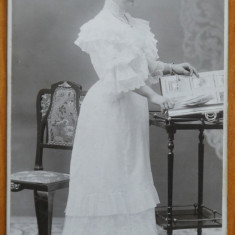 Foto pe carton gros , Timisoara , inceput de secol 20 , protipendada