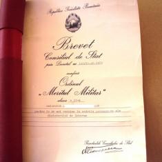 Brevet Meritul  clasa   II RSR