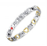 Bratara HB40 HEALTH Gold Lady Hearts Silver and Gold