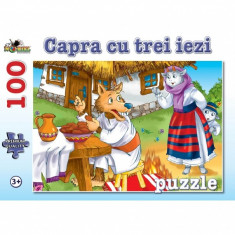 Puzzle 100 piese Capra cu Trei Iezi
