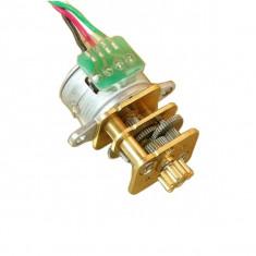 Motor Pas cu Pas cu 2 Faze de 15 mm cu Reductor de Metal
