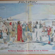 Ziarul Vulturul , nr. 7 din 1905 , cromolitografie  mare , Botezul Domnului