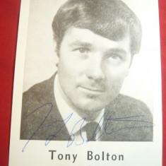 Fotografie - Tony Bolton - Muzician ,cantaret Anglia ,cu autograf original