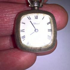 Ceas mecanic de buzunar, argint 800, functional