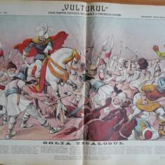Ziarul Vulturul , nr. 138 din 1909 , cromolitografie ; Ioan Voda cel Cumplit