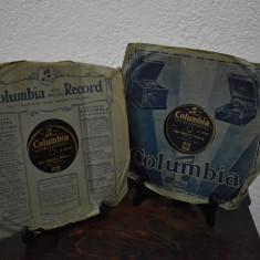 Doua Discuri Patefon Gramofon Nunta Taraneasca Patru parti - Columbia