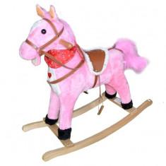 Calut balansoar lemn plus roz