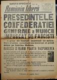 Numar special ziarul Romania Libera ,21 - 22 Febr. 1945 , Gheorghe Apostol ranit