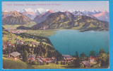 CARTE POSTALA AUSTRIA - BEATENBERG, VEDERE MUNTII ALPI, INCEPUTUL SEC. XX, Necirculata, Printata