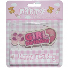 Lumanari de tort Girl birthday Set 3
