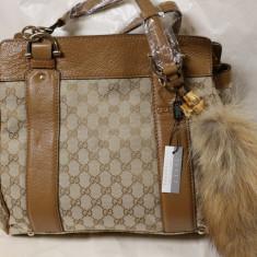 Geanta Gucci accesorizata cu blana naturala!, Din imagine, Medie