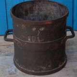 MASURA VECHE TARANEASCA - BANITA FACUTA DIN METAL CU MARCAJE - CAP. 10 LITRI