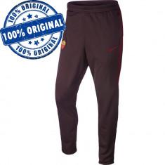 Pantalon Nike AS Roma pentru barbati - pantaloni originali - conici, Negru, Lungi, Poliester