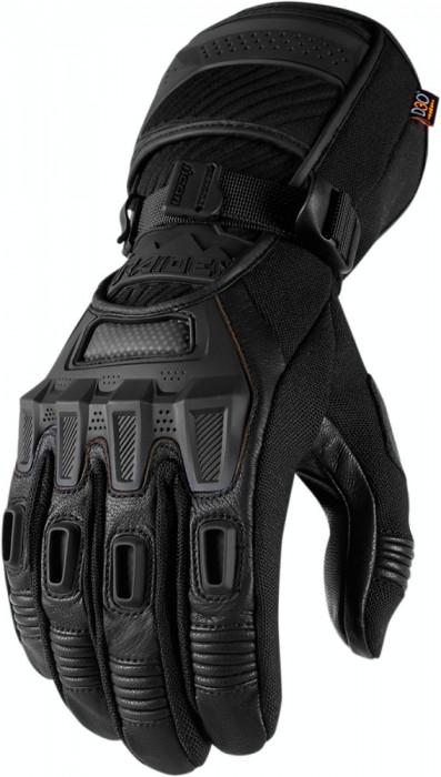 Manusi textile Waterproof Icon Raiden Alcan, negru, M Cod Produs: MX_NEW 33012639PE