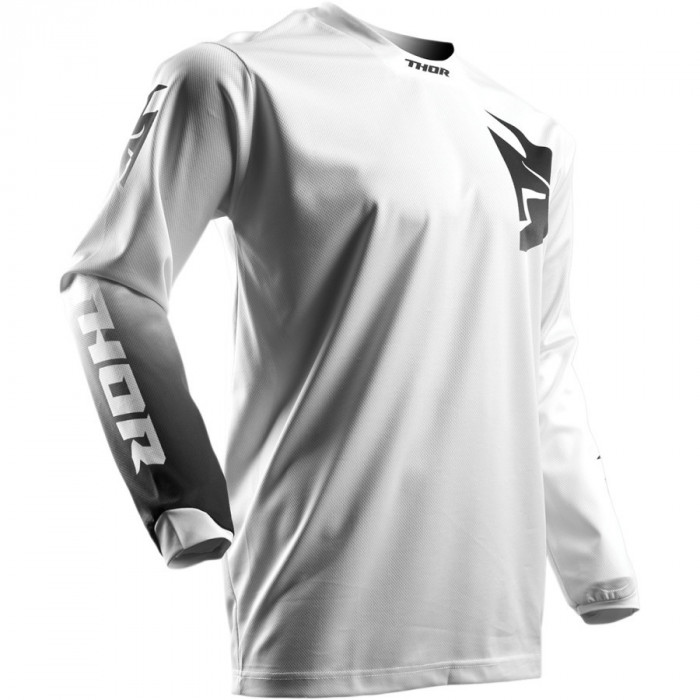 Tricou motocross Thor Pulse Whiteout marime XL Alb Cod Produs: MX_NEW 29103952PE
