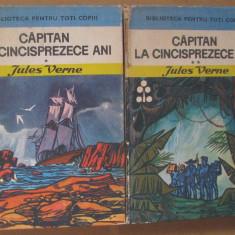 Volum - Carti - 1174 - CAPITAN la 15 ANI - Jules Verne ( 2 Vol ) - ( E 3 )