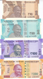 Bancnota India 10, 50, 100 si 200 Rupii 2017-18 - PNew UNC ( seria noua )