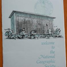 National Geographic ,Mapa cu scrisoare si diploma , adresate lui Mia Groza ,1967