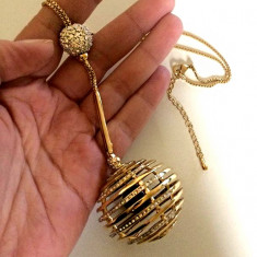 UNICAT-Colier LUXURY placat cu aur galben 18k si cristale  SWAROVSKI