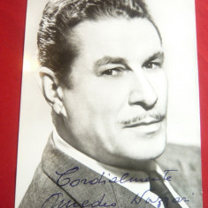 Ilustrata- Fotografie -Amedeo Nazzari- Actor Italian cu autograf original