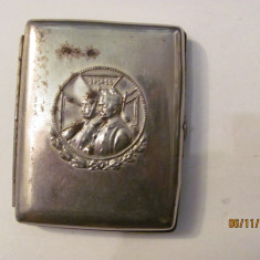 PVM - Tabachera veche inedita 1914 - 1915 Kaiser Rege Germania / articol RAR