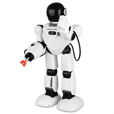 MEGA ROBOT INTELIGENT INSTRUCTOR,TELECOMANDA,SUNETE,LUMINI,ARMA CARE TRAGE REAL!