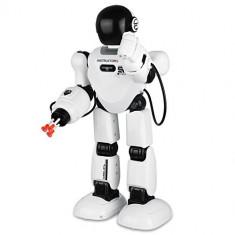 MEGA ROBOT INTELIGENT INSTRUCTOR,TELECOMANDA,SUNETE,LUMINI,ARMA CARE TRAGE REAL!, Plastic, Unisex