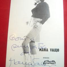 Fotografie de Studio Maria Valeja -Cantareata Portugheza cu autograf original