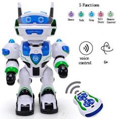 ROBOT INTELIGENT DE MARE DIMENSIUNE 37CM,ALEXSON EXECUTA ORICE COMANDA,SIGILAT., Plastic, Unisex