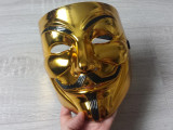 Cumpara ieftin Masca  halloween Anonymous Gold Silver guy fawkes Vendetta
