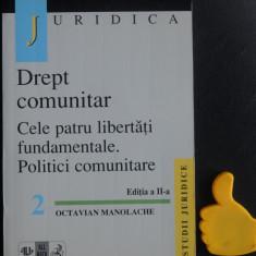 Drept comunitar Cele patru libertati fundamentale  Politici comunitare Manolache