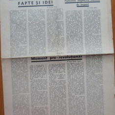 Ziarul Axa , 5 Febr. 1933 , Redactor Mihail Polihroniade  , ziar legionar rar