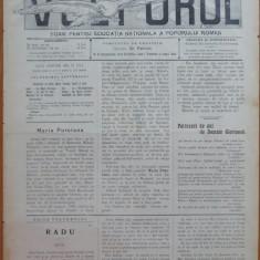 Ziarul Vulturul , nr. 35 din 1905 , cromolitografie mare ; Maria Putoiana