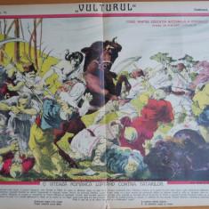 Ziarul Vulturul , nr. 74 din 1906 , cromolitografie  mare ; Navalirea tatarilor